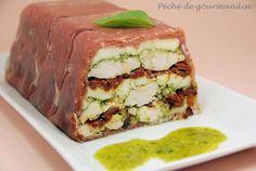 Terrine de poulet au pesto et tomates séchées - Péché de gourmandise