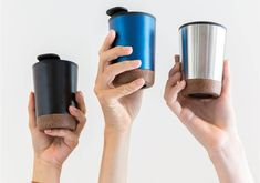 Double wall coffee cup with plastic inside and unique cork detail. Keeps your drinks hot for up to and cold up to Content: Coffee Tumbler, Coffee Cups, Mugs, Tableware, Regine, Drinkware, Gadget, Design, Plastic