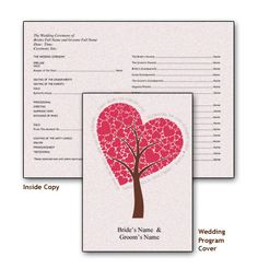 Create a Wedding Program With These Free Templates: Southworth's Free Wedding Program Templates