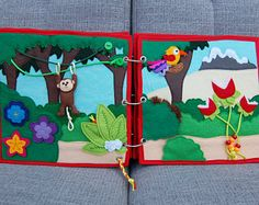 Elfjesboek Quiet book 2 pagina's bed  bad PATTERN &