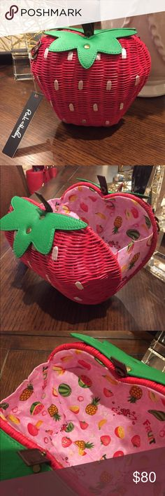 Strawberry wicker purse Strawberry wicker purse. Super cute for s day champagne tasting or anytime! Bags Shoulder Bags
