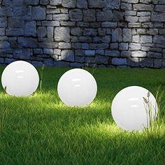 New LED Solarkugeln opalwei Durchmesser cm lichtstarke LEDs LED Solarleuchte Gartenkugel Leuchtkugel Garten Beleuchtung Dekoration Gartenbeleuchtung