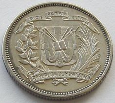 Dominican Republic 25 Centavos 1947 Ebay Old Coinsrare