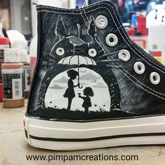 The Most Wanted Totoro Product Totoro Society Hand Painted Shoes, Painted Sneakers, Hayao Miyazaki, My Neighbor Totoro, Custom Shoes, Ballerinas, Chibi, Me Too Shoes, Cool Outfits