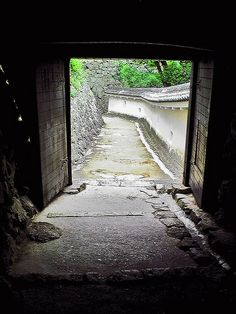Entrance way to Himeji Castle, Japan