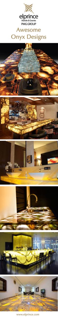 Beautiful Onyx - Marble interior ideas for bathroom, kitchen & dinning room