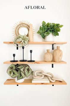 Seeking the perfect shelfie? Try adding a bit of freshness with trendy maintenance-free plants. Artificial plants are the easiest way to spruce up your shelf-style without the fuss. Shop artificial plants Afloral.com. Image by @modernly_you.