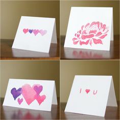 The Next Bird Watercolor Valentines Day Cards  Cards  Pinterest
