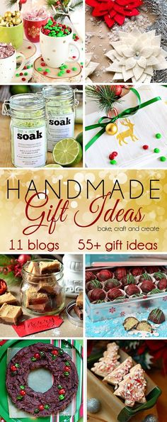 Are you looking for some extra-special handmade gift ideas? 11 bloggers are sharing over 55 handmade gift ideas to make and bake. details at TidyMom.net