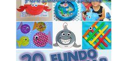Projetos para Educação Infantil, Brinquedos e brincadeiras, lembrancinhas e planos de aula. Ocean Crafts, Kids Rugs, Decor, Crafts For Toddlers, Under The Sea Theme, Fun Kids Activities, Paper Plates, Literacy Games, Paper Cut Outs