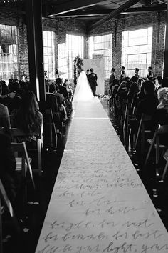 corner ceremony, custom calligraphy aisle runner | snippet & ink