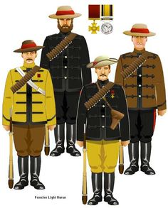 Frontier Light Horse- Illustration from Tim Reese's CD of uniforms of the British and Colonial regiments in the Zulu War.