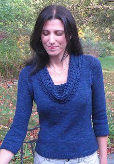 Ravelry: Habañera pattern by Mary Annarella Sweater Knitting Patterns, Knitting Stitches, Free Knitting, Knit Sweaters, Cardigans, Free Sewing, Lana, Ravelry, Knit Crochet