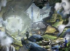 inside view of space colony - Google 検索