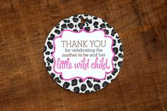 Thank You for Celebrating the Mother to Be and Her Little Wild Child Tags, Perfect for Baby Showers, Baby Shower Tags, Baby Showers, Wild Child, Messages, Cat, Children, Celebrities, Pink, Etsy