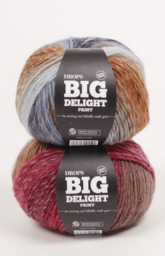 Drops Big Delight Group C. Raw Supplies for Knitting and Crochet. Drops Big Delight Yarn Group: C Content: Wool Yarn Group: C - 19 stitches) / 10 ply / aran / worsted Weight/yardage: oz g) = approx 208 yds m) Wool Fabric, Wool Yarn, Wool Felt, Crochet Slippers, Crochet Yarn, Drops Delight, Garnstudio Drops, Shade Card, Hobby Supplies