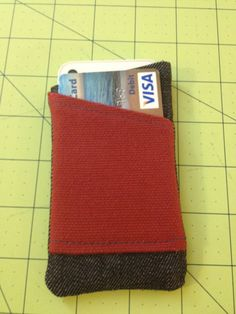 Handmade iPhone 4/4S Sleeve W/Card pocket