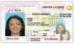 North Carolina will begin issuing N. REAL ID driver licenses on Monday. The licenses are intended to meet tougher planned federal security standards at airports and military bases. Driver License Online, Driver's License, Insurance License, Drivers License Pictures, North Carolina Usa, Passport Online, Real Id, Divorce Papers, Sleep