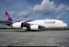 Thai Airways International F-WWAO/HS-TUA Airbus A380-841 aircraft picture Airbus A380, Boeing 777, Civil Aviation, Aviation Art, Aeroplane Flying, Women In History, Ancient History, Thai Airways, Viajes
