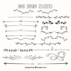 Divisores desenhados mão embalar Vetor grátis
