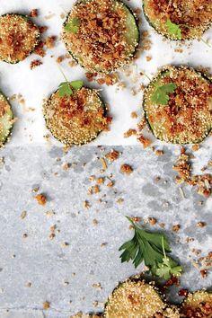 Best Zucchini Recipes, Zucchini Chips Recipe, Vegetable Recipes, Zucchini Rounds, Vegan Zucchini, Zucchini Fries, Veggie Food, Healthy Recipes, Zucchini Side Dishes