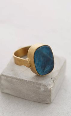 Blue Apatite Ring #anthroregistry