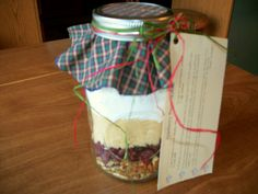Cranberry Pecan Muffin Mix for a gift in a jar - comes with printable recipe card too!