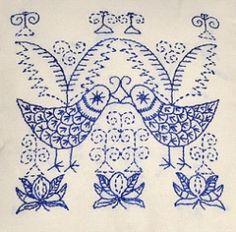 Scandi BLUE Birds Embroidery Kit 04071-SC1093AE