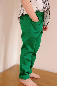 Boys emerald color pants Cotton drill pants by WNforKIDS on Etsy ...