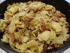The recipe for simple and very tasty noodles with sausage and bacon. Perfect for lunch and dinner. More recipes at www. Slow Cooker Recipes, Cooking Recipes, Healthy Recipes, Pasta Recipes, Dinner Recipes, Polish Recipes, Soul Food, Kielbasa, Weights