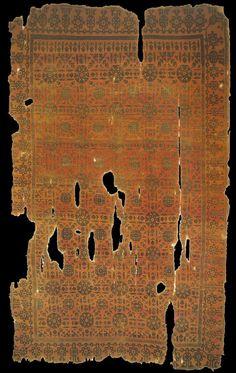 Seljuk rug, 13th century, Turkey. Vakiflar Carpet Museum, Istanbul.