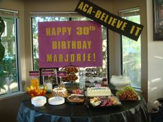 Pitch perfect theme birthday party banners