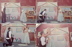 Just wonderful ~ doll house proposal caught on camera at a photography workshop!