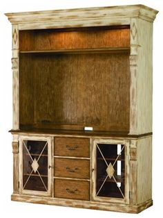 Entertainment Console Hutch, Dune and Beach - contemporary - media storage - Benjamin Rugs and Furniture
