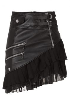 Jana Leather Skirt ~ Philipp Plein