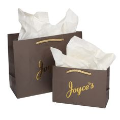 Package Design- Commercial- Custom Retail Packaging- Paper Bag with Hot Stamp for Joyce's
