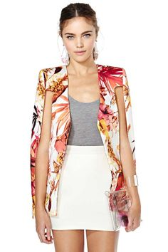 OBSESSED. Cameo Stepping Stone Cape Blazer