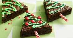 : Gluten-Free , Low-Fat , Soy-Free , Vegan Christmas Tree Brownies