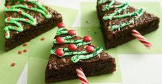 : Gluten-Free , Low-Fat , Soy-Free , Vegan Christmas Tree Brownies