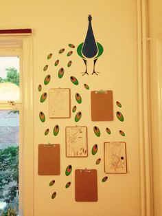 Display for children's drawings.