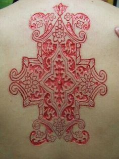 ... Intricate scar tattoo.   Scarring   Pinterest   Tattoos and body art