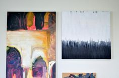 A Quick and Easy DIY Abstract Art Painting and Gallery Wall | The Design Confidential