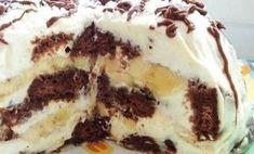 Čokoládovo-banánová nepečená torta - Báječné recepty