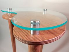 Kidney Accent End Table - Modern Side Table - Red Oak - Green Acrylic Edge Contemporary Furniture - Clear Satin Finish or Ready To Finish by tablettebyAcey on Etsy https://www.etsy.com/listing/231577825/kidney-accent-end-table-modern-side