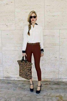 17 Ideas De Outfits Con Pantalones Color Vino Pantalon Color Vino Pantalones Vino Outfits
