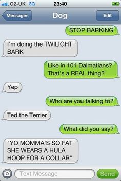 Texts from dog - twilight bark