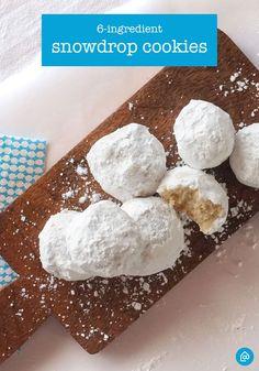 6-Ingredient Snowdrops. Aka Russian Tea Cakes. Aka Italian Wedding Cookies. Aka Delicious.