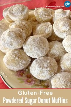 These gluten-free Powdered Sugar Donut Muffins are the equivalent of tasty Hostess Donuts, or their Donettes. Easy to make and delicious. No donut pan needed.