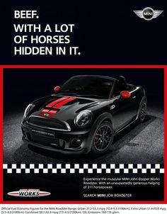 Beef, MINI Roadster, IRIS WORLDWIDE, MINI, Print, Outdoor, Ads