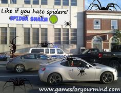 Spider Swarm promo pic designed for Facebook.  #street #traffic #spiders #spider #android #game #androidgame #cgi #blender #3d Blender 3d, For Facebook, Spiders, Cgi, Android, Game, Street, Design, Spider